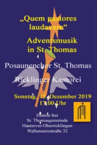 Adventsmusik in St. Thomas 15. Dezember 2019